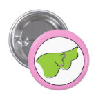 Wing Button (green+pink)