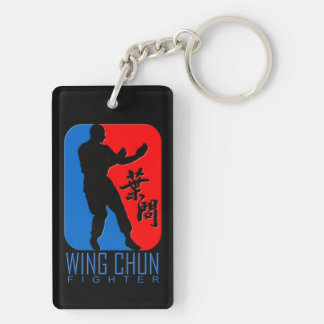 Wing Chun Fighter - Ip Man Linage Double-Sided Rectangular Acrylic Keychain