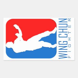 Wing Chun Fighter - Ip Man Linage Rectangular Sticker