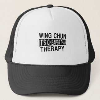 WING CHUN IT IS CHEAPER THAN THERAPY TRUCKER HAT