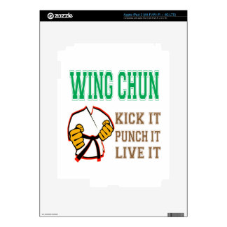 Wing Chun Kick it, Punch it, Live it Decals For iPad 3
