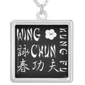 Wing Chun Kung Fu Necklace - Square