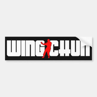 Wing Chun System Car Bumper Sticker