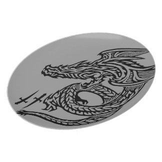 Wing Dragon Melamine Plate