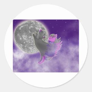 Wing Embrace Classic Round Sticker