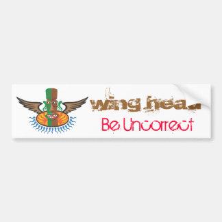 Wing Head Bumper Sticker