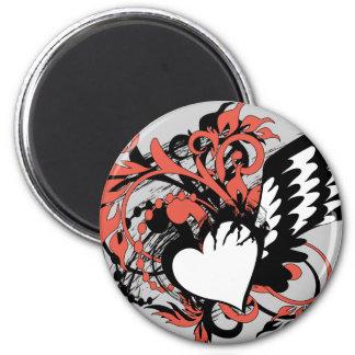 wing&heart imán redondo 5 cm