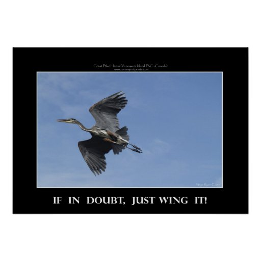 WING IT! Motivational Poster