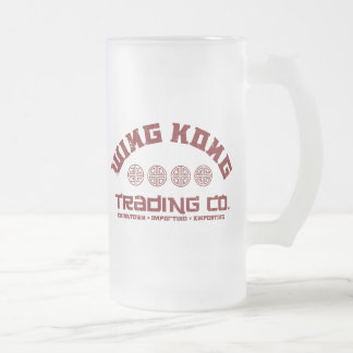 wing kong trading co. big trouble in little china 16 oz frosted glass beer mug