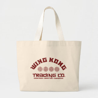 wing kong trading co. big trouble in little china tote bags