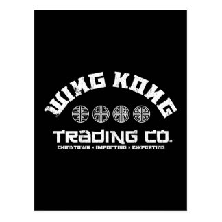 wing kong trading co. big trouble in little china postcard