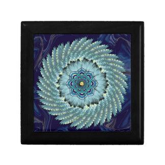 Wing Lotus Mandala Ceramic Tile Trinket Box