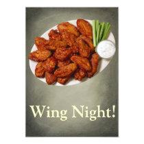 Wing Night Invitation