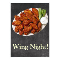 Wing Night Invitation