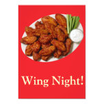 Wing Night Personalized Invitation