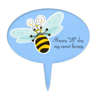 Wing-Nutz™_Bumble Bee (Buzz)_ Happy B day Cake Topper