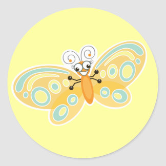 Wing-Nutz™_Butterfly (Beatrice)_ sweet  & fun Classic Round Sticker