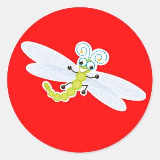 Wing-Nutz™_Dragonfly (Skeeter) _ sweet  & fun Classic Round Sticker