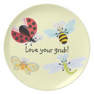 ¡Wing-Nutz™_Fluttering Buddies_Love su comida! Platos Para Fiestas
