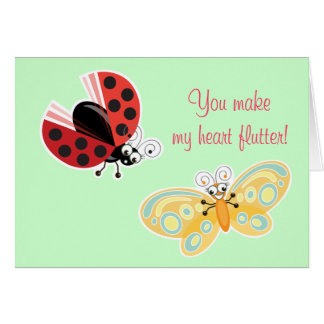 Wing-Nutz™_Fluttering Buddies_ My heart flutter 2 Card