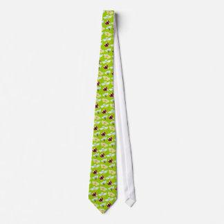 Wing-Nutz™_Fluttering Buddies_pattern_lime meadow Neck Tie