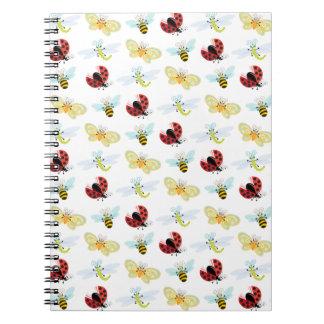 Wing-Nutz™_Fluttering Buddies_ sweet  & fun Spiral Notebook