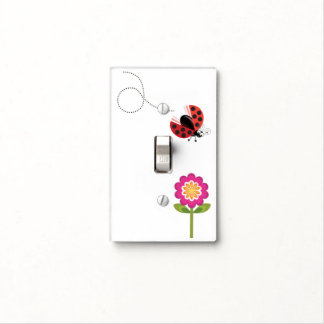 Wing-Nutz™_Ladybug (Dotty)_ flower alighting Light Switch Cover