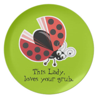Wing-Nutz™_Ladybug (Dotty)_ Lady loves your grub Melamine Plate