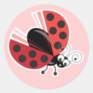 Wing-Nutz™_Ladybug (Dotty)_ sweet  & fun Classic Round Sticker