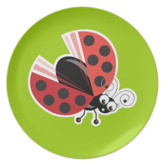 Wing-Nutz™_Ladybug (Dotty)_ sweet  & fun Dinner Plate
