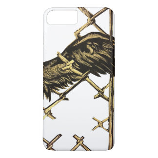 Wing of a bird trapped in a fence iPhone 7 plus case