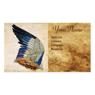 WING OF A ROLLER  ON  ANTIQUE PARCHMENT  Monogram Business Card Templates