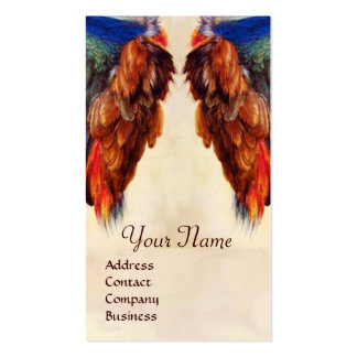 WING OF A ROLLER  ON  ANTIQUE PARCHMENT  Monogram Business Card