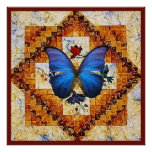 Wing Quilt Poster