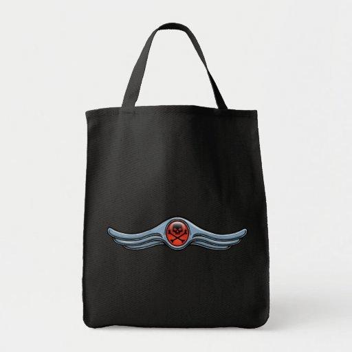 Wing Skull Chrome Bags