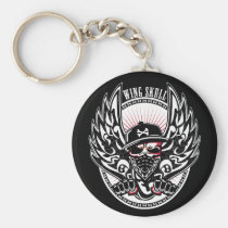 art, band, biker, bone, cool, design, gothic, graphic, graphic-design, hip-hop, illustration, music, pop, punk, rock, skull, street, vintage, wild, rock-and-roll, rap, gangsta, wing, graphic design, hip hop, rock and roll, skeleton, skulls, wild-boyz, skater, rocker, wild boyz, Keychain with custom graphic design