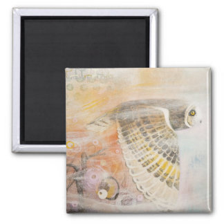 Wing Stream 2 Inch Square Magnet