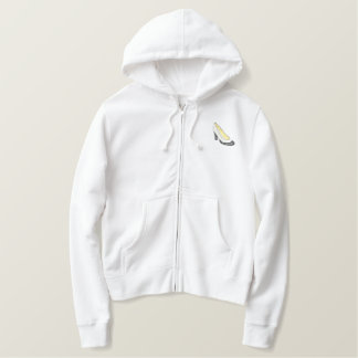 Wing Tip Embroidered Hoodie