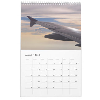 Wing Tips: view from the plane Calendar