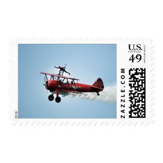 Wing Walker Postage Stamps
