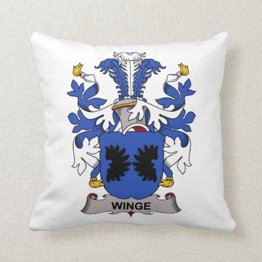 Winge Family Crest Pillow