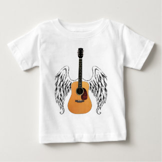 Winged Acoustic Guitar Baby T-Shirt