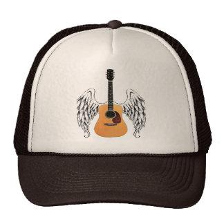 Winged Acoustic Guitar Mesh Hat