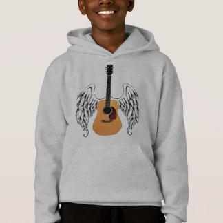 Winged Acoustic Guitar Hoodie
