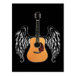 Winged Acoustic Guitar Postcard