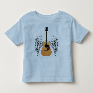 Winged Acoustic Guitar Toddler T-shirt