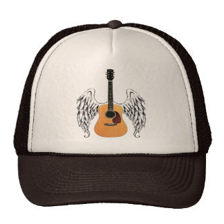 Winged Acoustic Guitar Trucker Hat