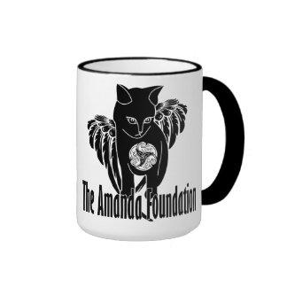 Winged Amanda Kitty Ringer Coffee Mug