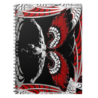 Winged angel notebook