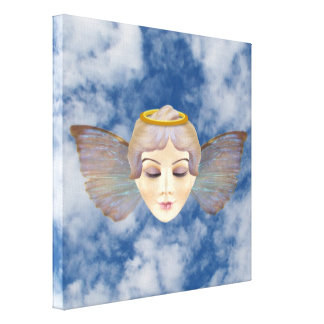 Winged Angel Wrapped Canvas